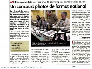 Article la Montagne 25-12-2015