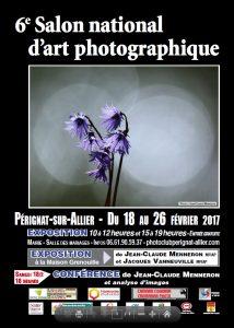 affiche concours national d'art photographique de pérignat sur allier